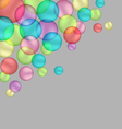 Bubbles isolated on grey vector