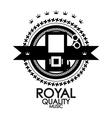 Black retro vintage label  tag  badge  royal vector