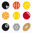 Sport ball icons vector