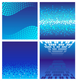 Set of dark blue technology background vector