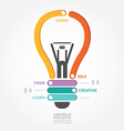 Lightbulb infographics vector