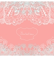 Wedding invitation or greeting card with lace vector
