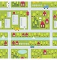 Cartoon map pattern of small town vector