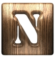 Wooden figure n vector