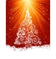 Beautiful winter card with tree eps 8 vector