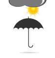 Umbrella with sun vector