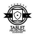 Black retro vintage label  tag  badge  tablet vector