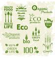 Set of organic food logo vector