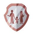 Family insurance design vector