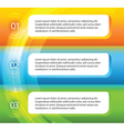 Flyer template page layout option number vector