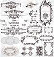 Vintage ornamental calligraphic designs set vector