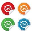 24 hours customer service clock support vector