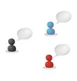 Color speaking siluets vector