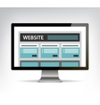 Web design template in electronic device computer vector