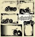 Motorbike grunge banners vector