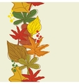 Vertical seamless border with autumn background vector