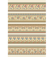 Set of five decorative borders ornamental vector