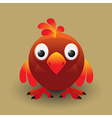 Cute baby bird vector