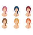 Braided hair style vector