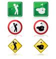 Golfing signs vector