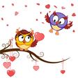 Card funny owls declaration of love vector