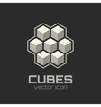 Abstract icon with 3d cubes vector