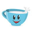 Cute cup of milk vector
