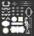 Decorative vintage elements and frames set vector