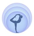 Yoga and aura vector