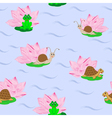 Pattern with aquatic animals vector