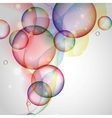 Colorful glowing bubbles background vector