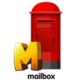 A letter m for mailbox vector