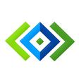 Square geometry construction logo vector