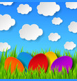 Abstract easter eggs vector