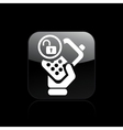 Isolated phone lock icon vector