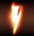 Burning blazing power lightning arrow vector