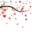 Greeting card with hearts vector