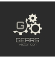 Gear icon with place for your text vector