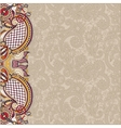 Vintage floral background for your design vector