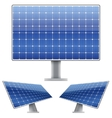 Set of blue electric solar panel for sun light vector