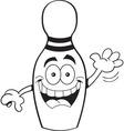 Cartoon bowling pin vector