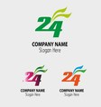 24 h logo hours stock 24 icon symbol vector