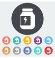 Jar flat icon vector