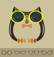 Images of owl and glasses vector