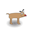 Happy little cute dog vector