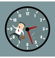 Businessman racing against the clock vector