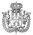 Crown crest vector