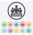 Clients sign icon group of people symbol vector