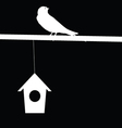 Sparrow and house vector