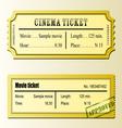Cinema movie tickets vector